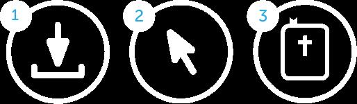DevoHub Easy Steps Icons