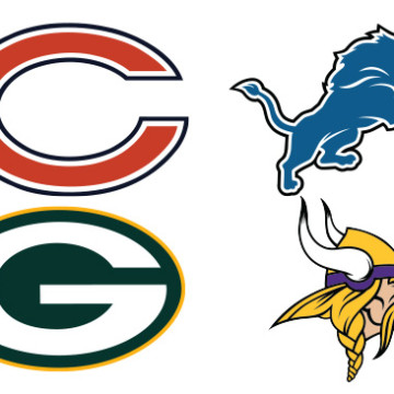 NFC North Team Logos