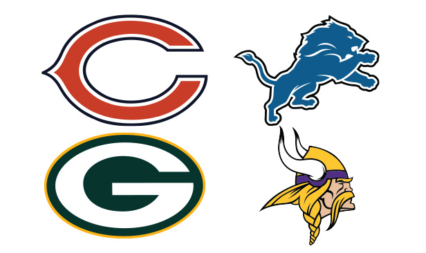 NFC North Team Logos