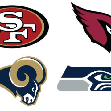 NFC West Team Logos