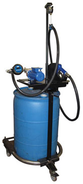 def dispense unit for 55 gallon 208 liter drum includes ac electric pump mounting plate dispense hose nozzle meter and drum cart