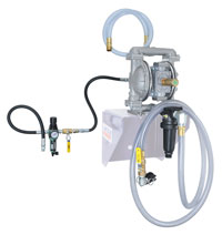 Upgraded Diaphragm Pump Evac System