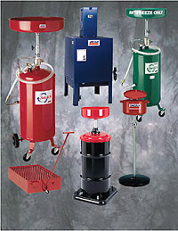 Used fluid systems and fuel caddies