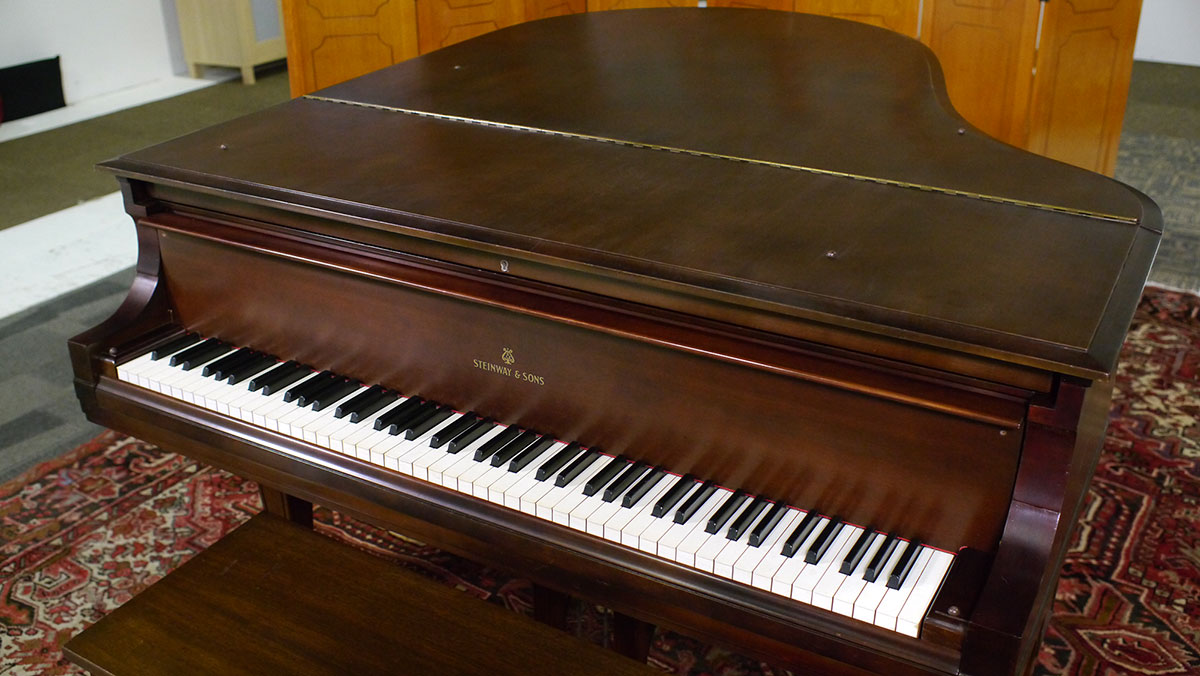 Used steinway model o grand piano for sale living pianos for What size is a grand piano