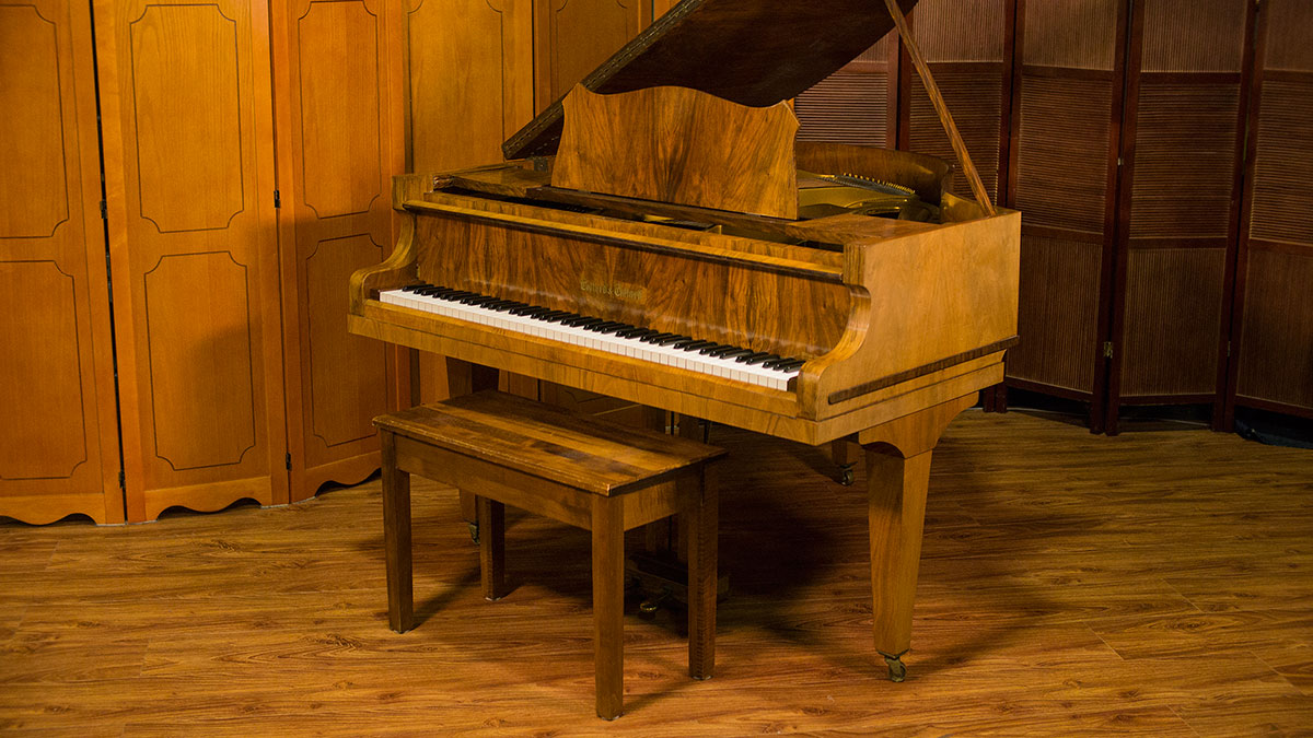Collard collard baby grand piano for sale used piano store for Size baby grand piano