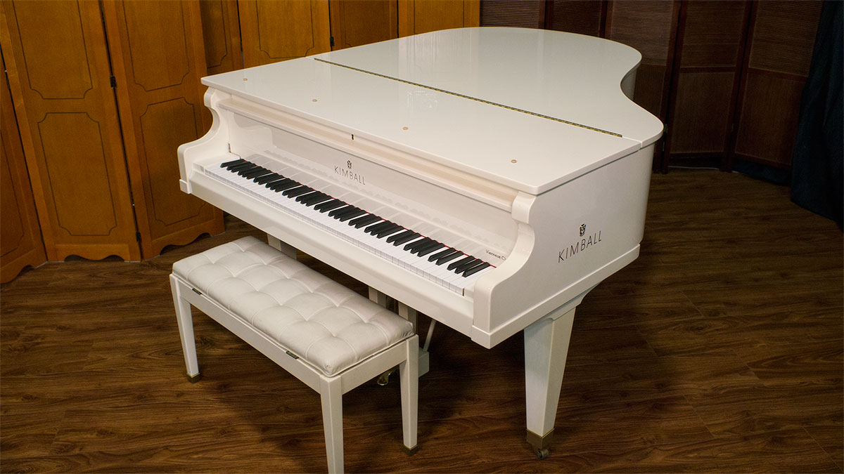 Ivory Kimball Viennese Classic Grand Piano For Sale