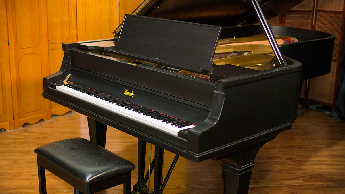 used knabe concert grand piano for sale living pianos. Black Bedroom Furniture Sets. Home Design Ideas