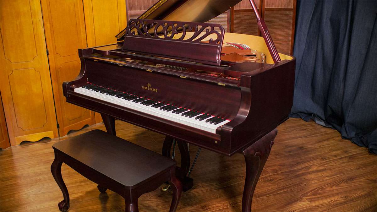 Used Young Chang French Provincial Baby Grand For Sale