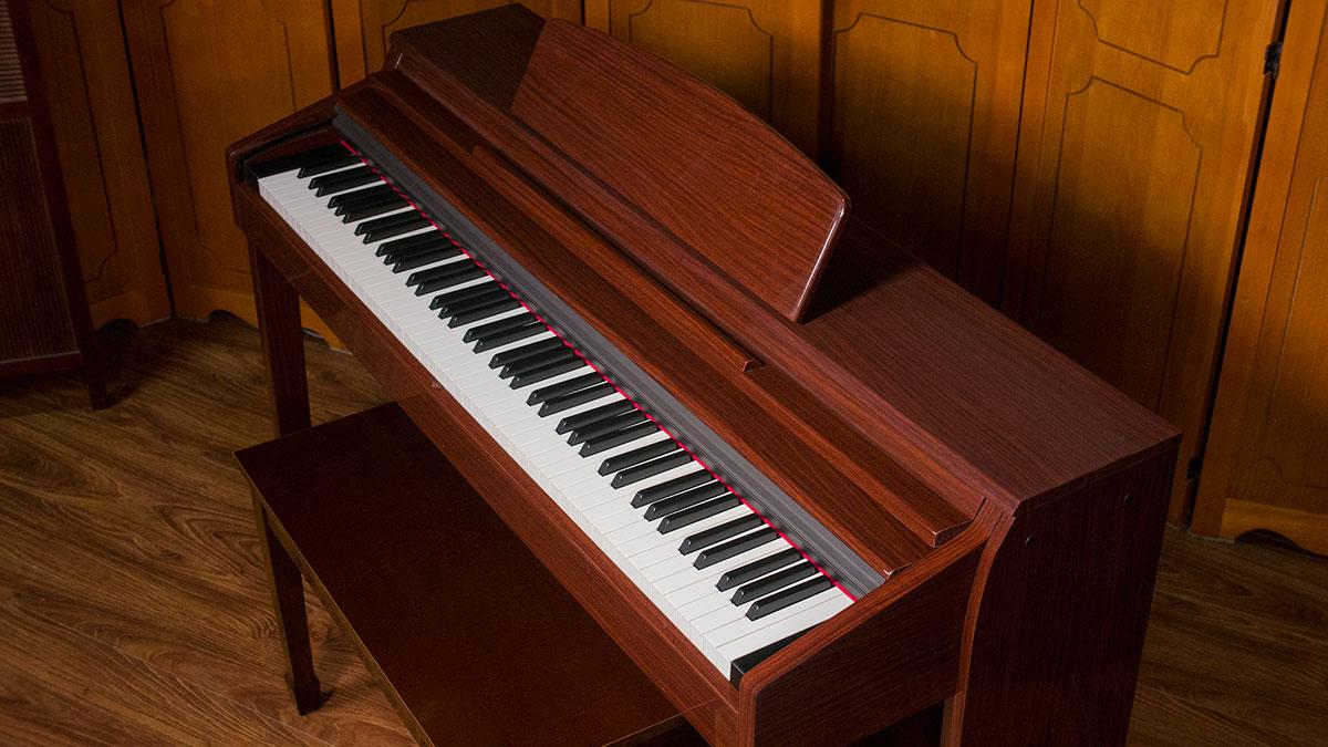 new artesia digital piano for sale model dp150e mahogany polish. Black Bedroom Furniture Sets. Home Design Ideas