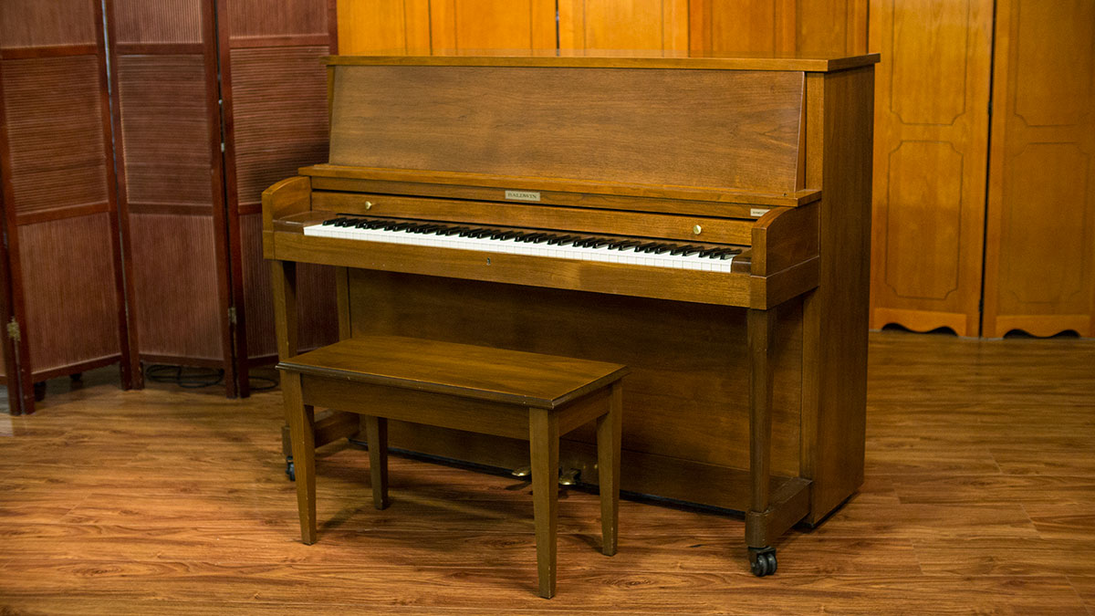 Baldwin hamilton studio upright piano for sale living pianos for What are the dimensions of an upright piano