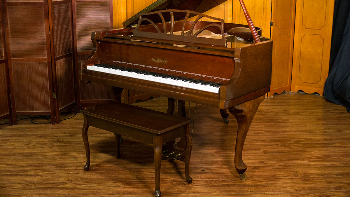 Chickering french provincial baby grand piano for sale for Size baby grand piano