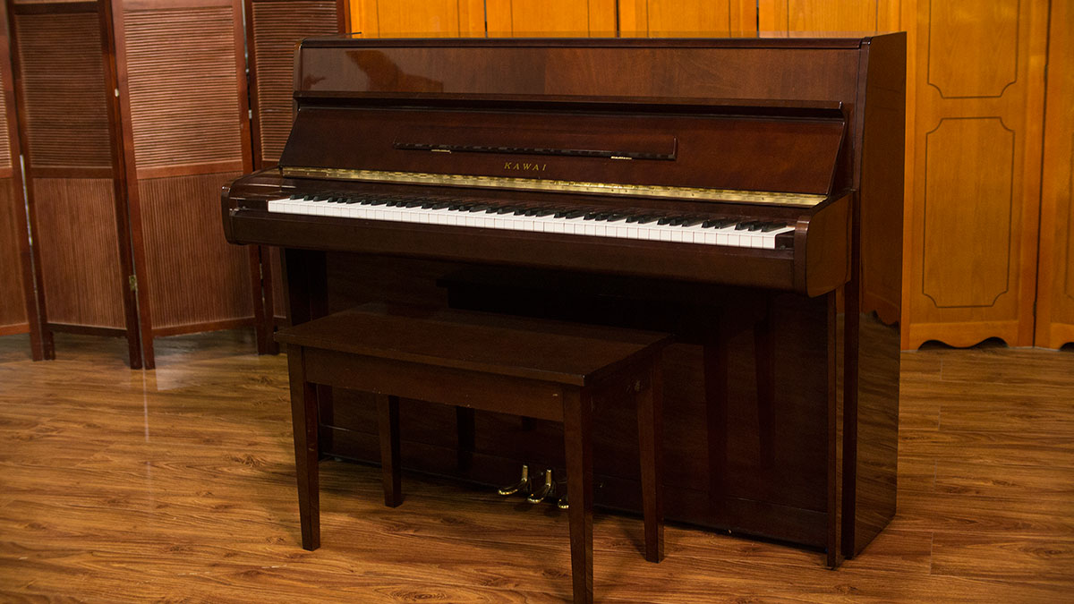 Kawai console piano for sale living pianos online for Small upright piano dimensions