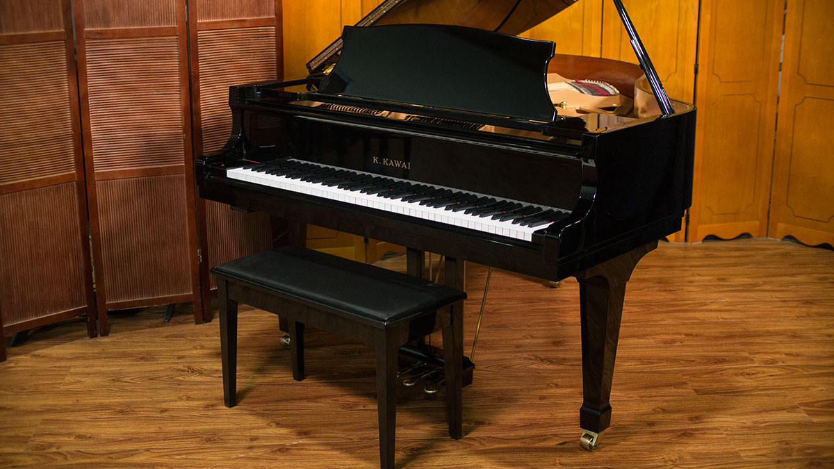 Kawai grand piano model kg 2n for sale online piano store for What size is a grand piano