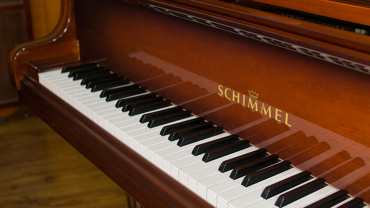 like new schimmel art cast german grand piano for sale living pianos. Black Bedroom Furniture Sets. Home Design Ideas