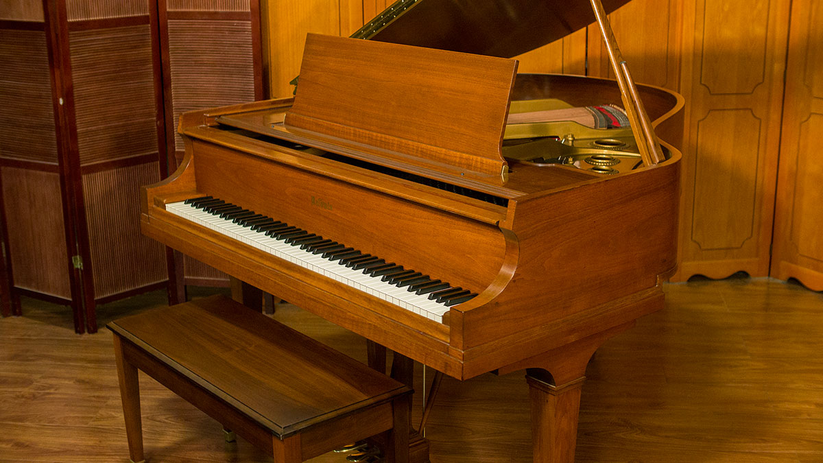 Baldwin model m baby grand piano for sale living pianos for Size baby grand piano