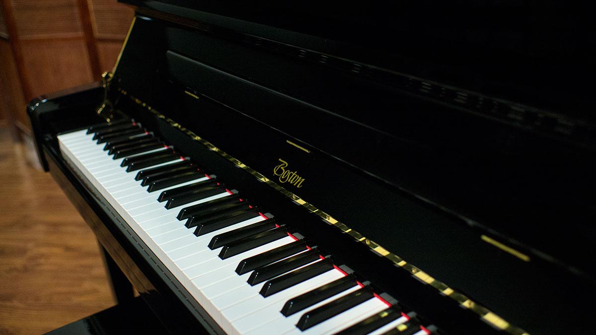 Kawai Upright Piano >> Steinway Boston Model UP-126E PE Professional Upright Piano