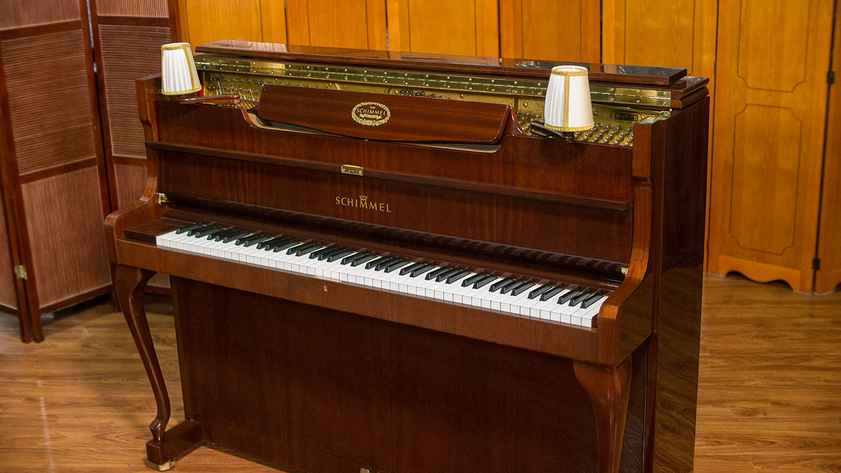 schimmel designer upright piano living pianos online piano store. Black Bedroom Furniture Sets. Home Design Ideas