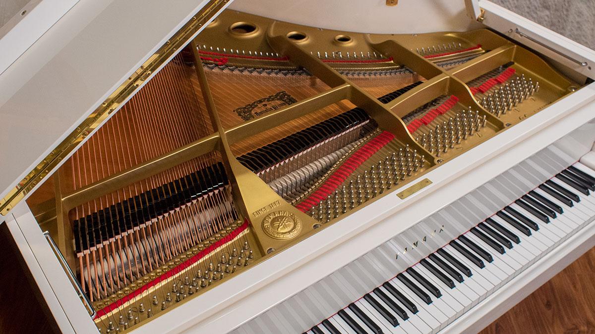 Yamaha Model G1 Baby Grand Piano - Polished White Finish