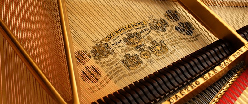 soundboard on a piano