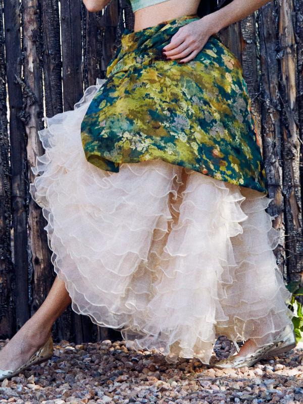Victorian Ruffle Skirt