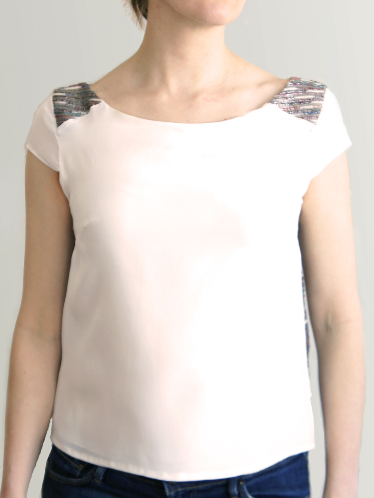 Contrasting Silk Top