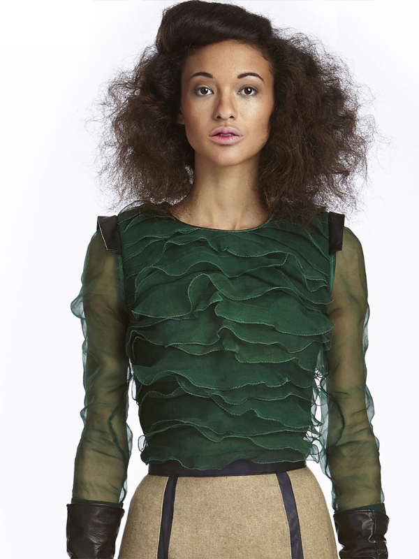 Green Organza Top