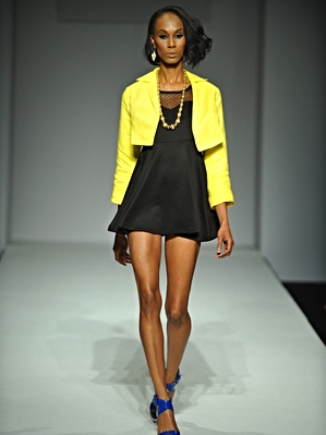 Yellow half Blazer