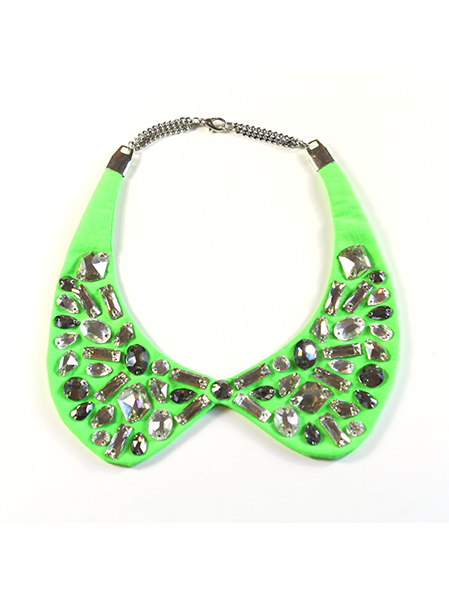 Neon Green Peter Pan Collar