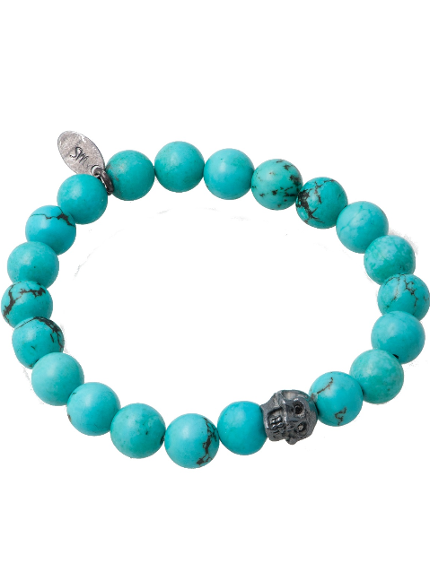 Precious Skully Stretch Bracelet in Turquoise