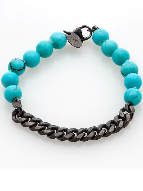 Chained Up Bracelet in Turquoise