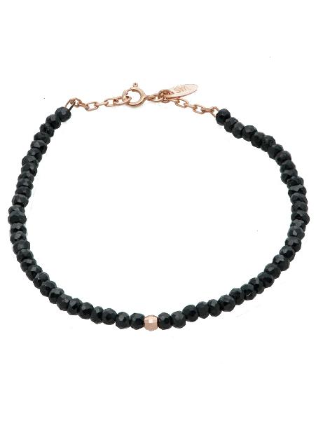 Gem Candy Bracelet in Black Spinel