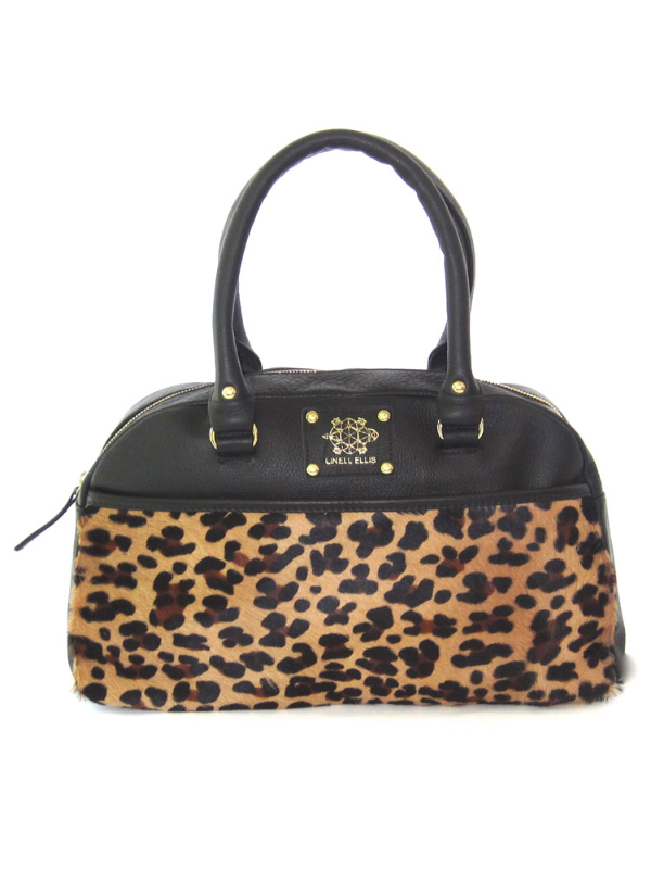 Candi Satchel - Midnight/Leopard