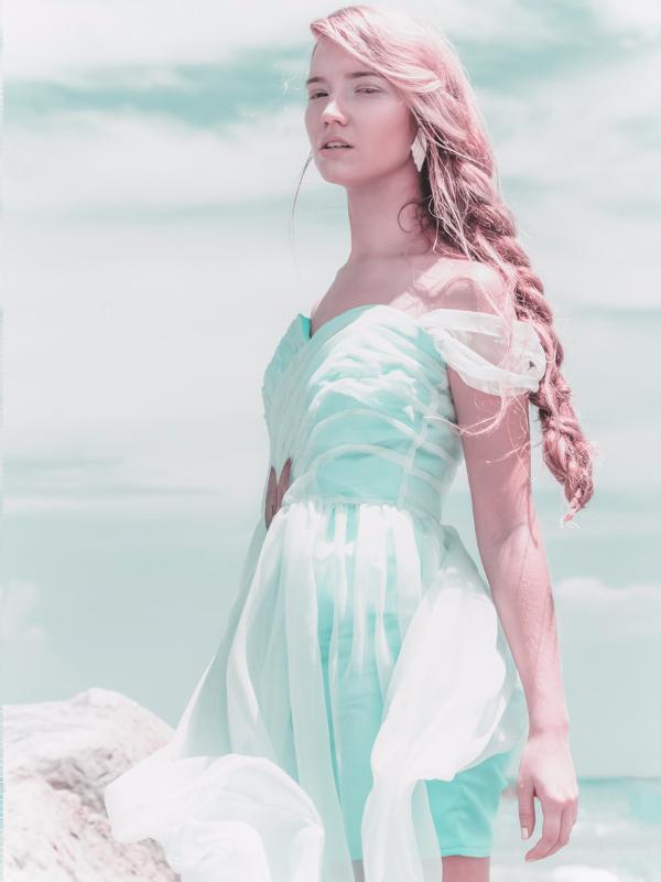 Sea foam Siren Dress