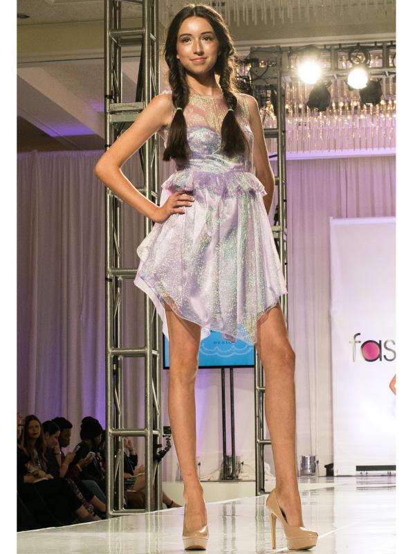 Iridescent Lavender Dress