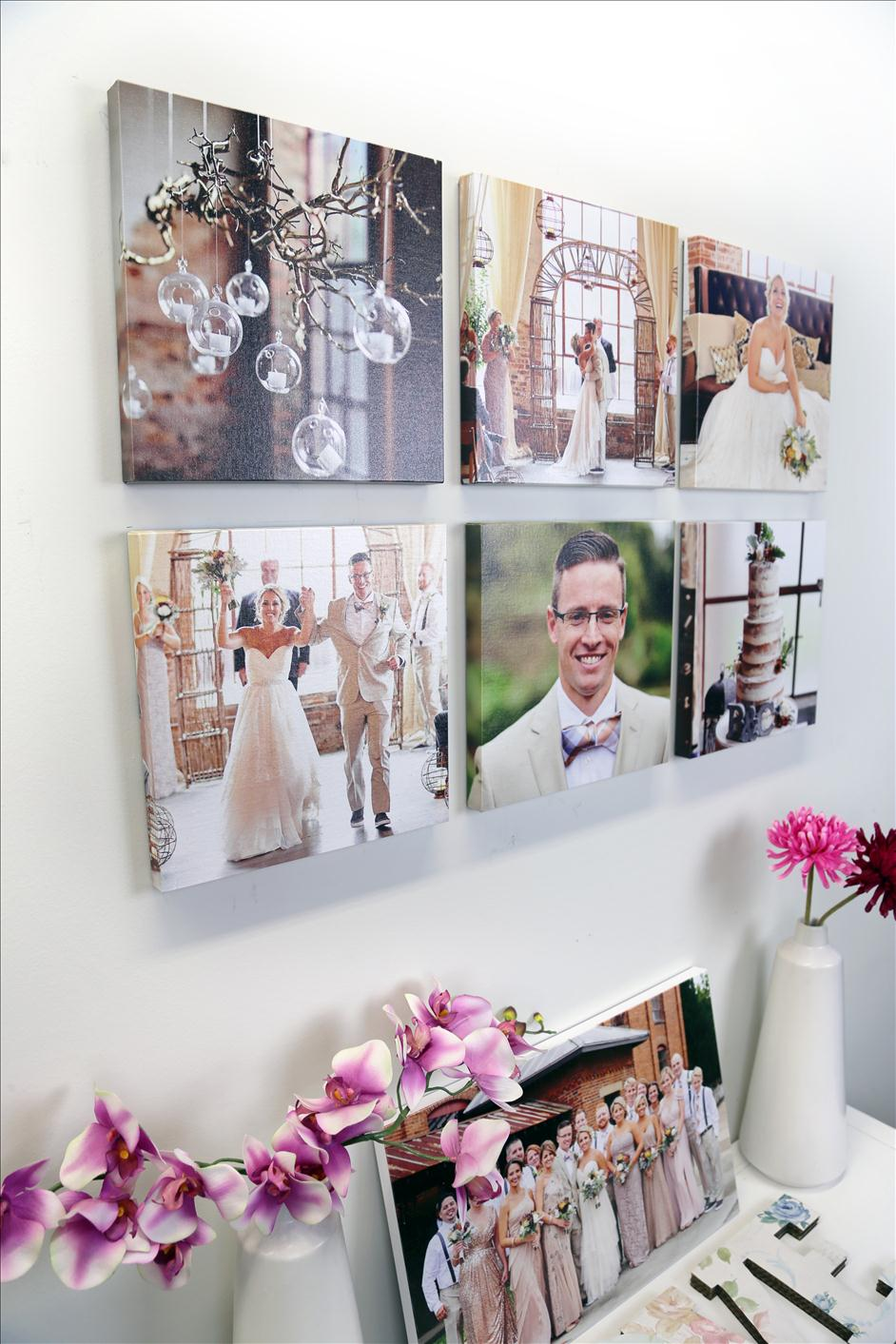 Decorating with Squares // Gallery Wall with Canvas Prints