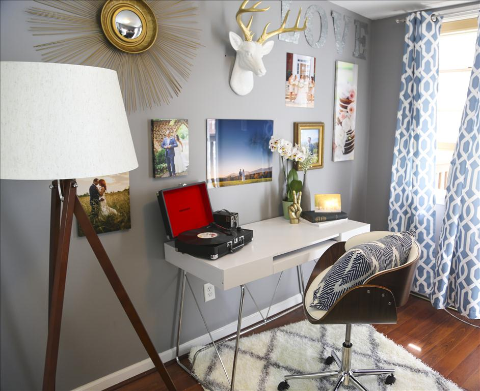 3 Tips for Personalizing a Creative Office Space // Nations Photo Lab and Wayfair