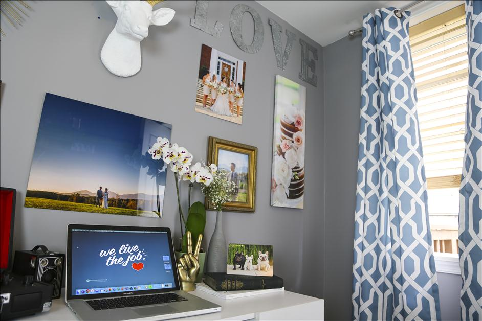 Personalize your Home Office Space with a DIY Gallery Wall // Nations Photo Lab & Wayfair