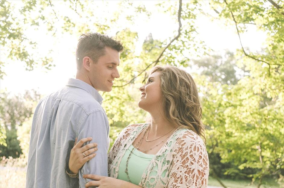 Spring engagement photo by Shunkwiler Photo