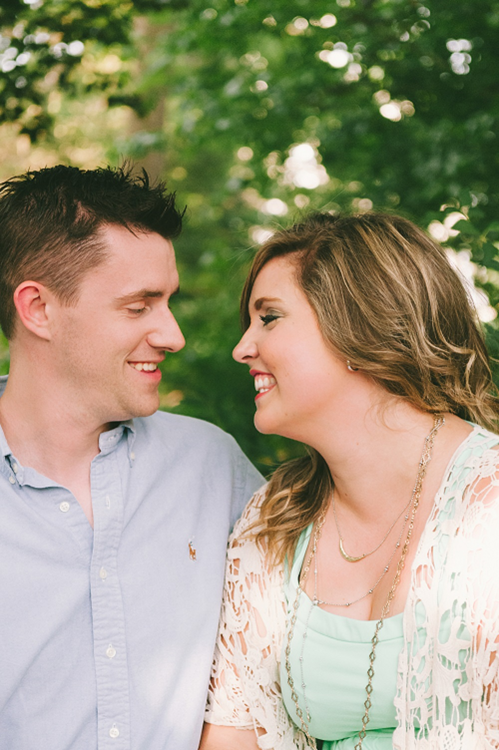 Spring outdoor engagement photo by Shunkwiler Photo