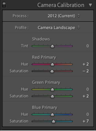 Camera Calibration in Adobe Lightroom