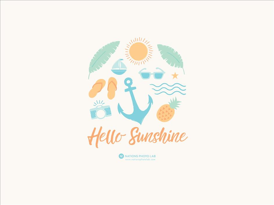 Hello Sunshine // Downloadable Desktop Computer Background