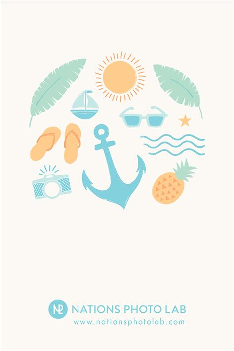 Summer Collage // Downloadable Phone Background