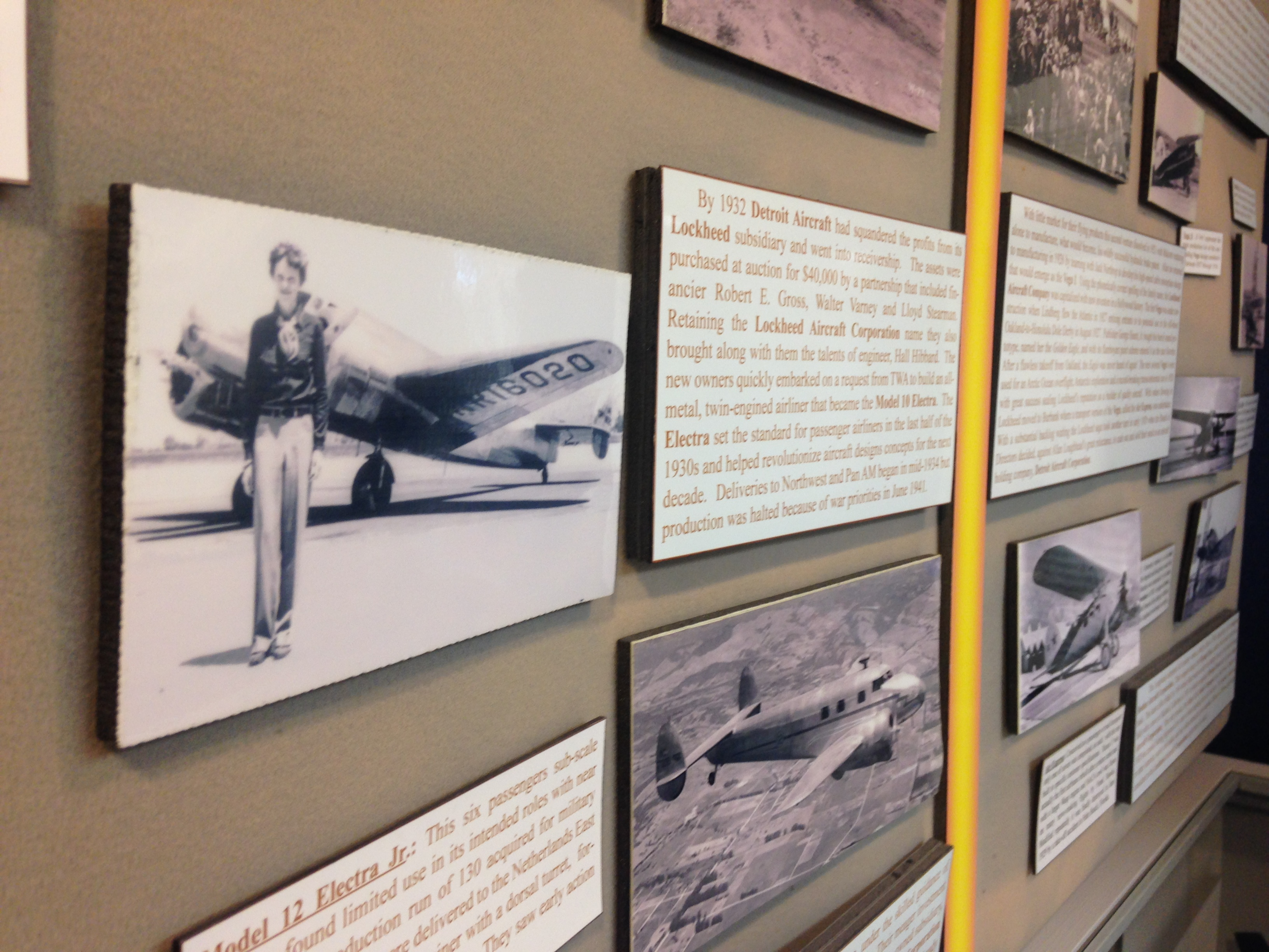 Amelia Earhart exhibit at Martin State Airport