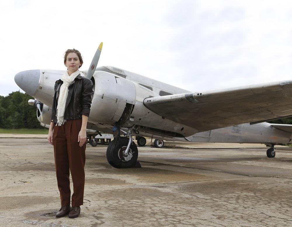 Amelia Earhart replica photo cropped version
