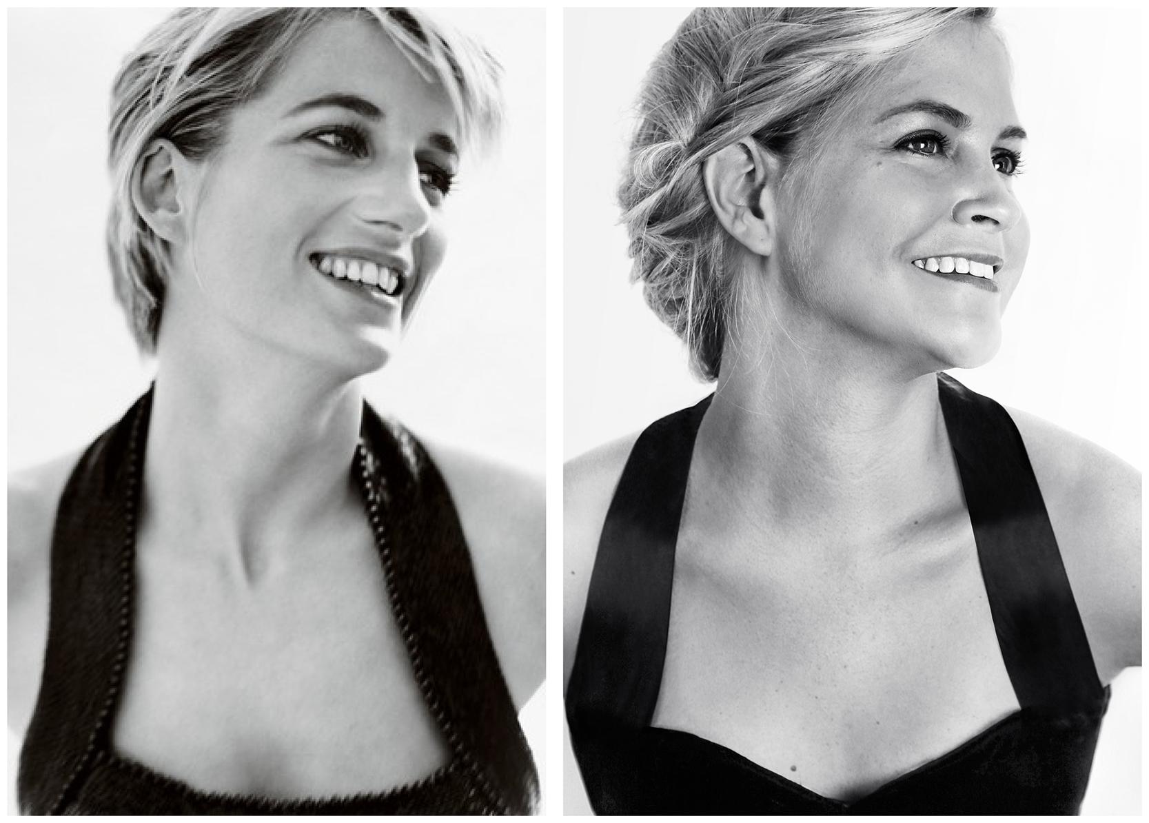 Princess Diana original photo comparison to replica photo