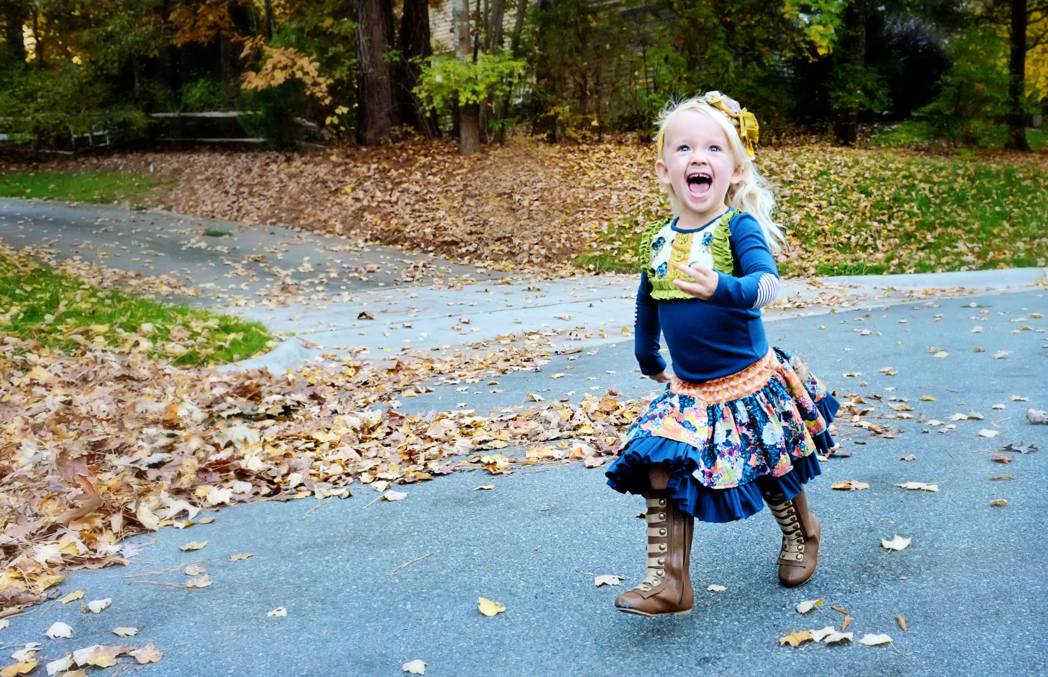 Tamara Lackey photo of child in fall weather