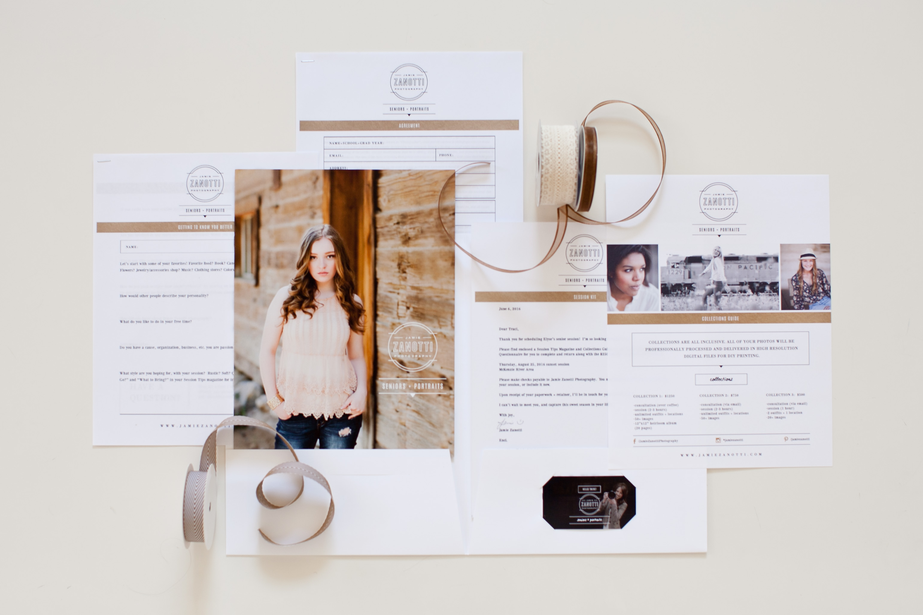 Designed branding templates for photographers