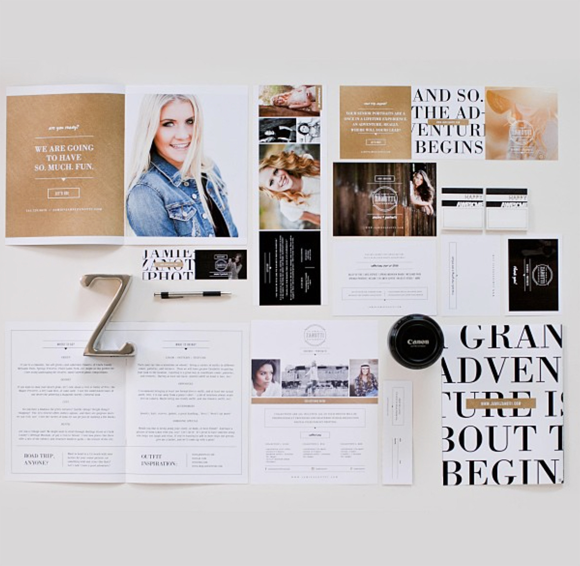 Print branding elements for photographers // Design templates for photographers