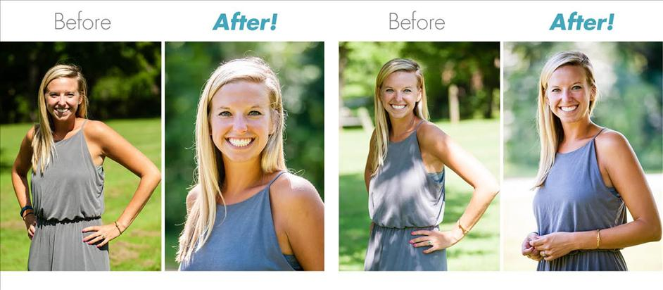Before and After Photos: Taking photographs in bright sunlight