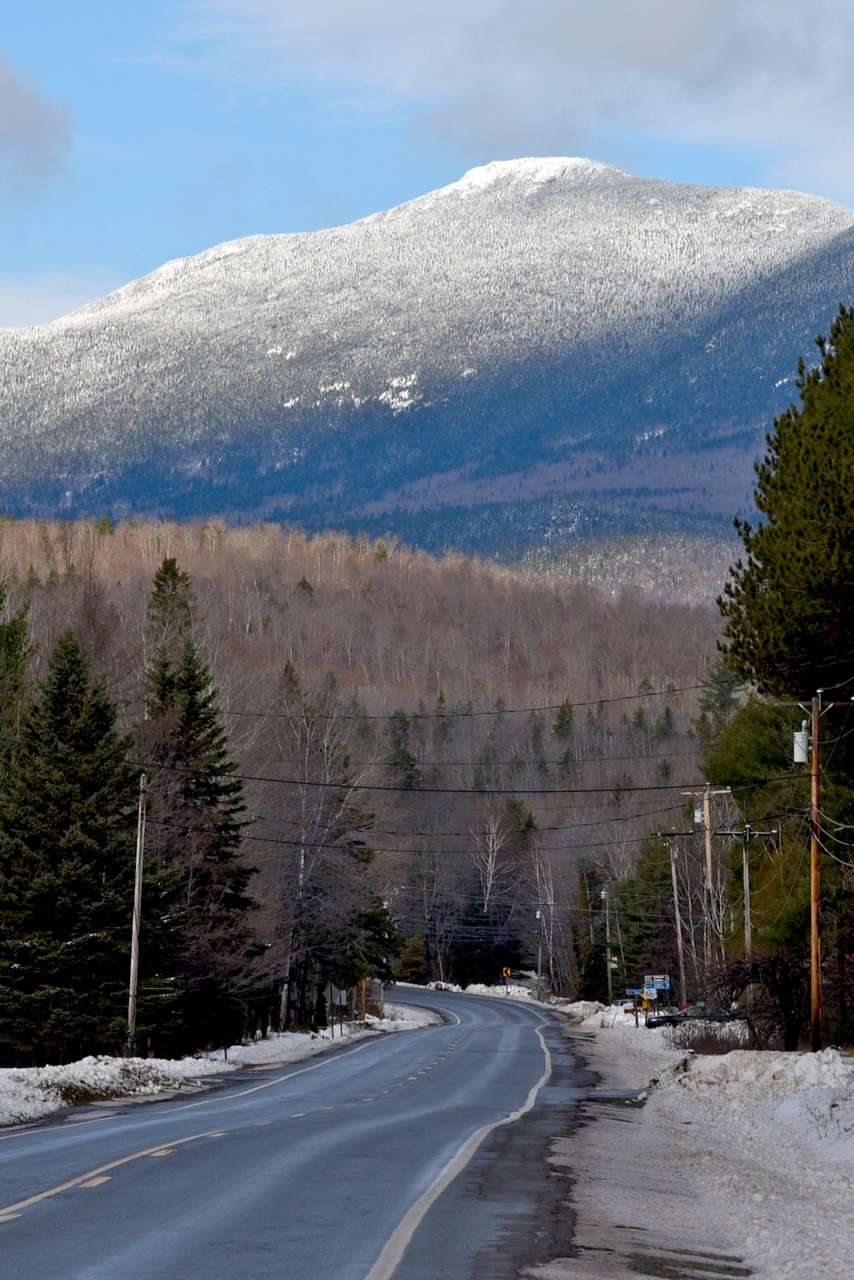 Snow in Maine's mountains